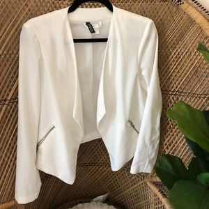 H&M white flowy jacket